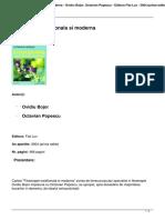 Fitoterapie Traditionala Si Moderna Ovidiu Bojor Octavian Popescu Editura Fiat Lux 2004 Prima Editie