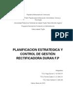 Planificacion Estrategica y Control de Gestion Rectificadora Duran