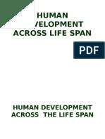 Human Development Acroos Life Span