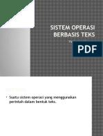 Sistem Operasi Berbasis Teks