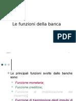 01) Le Funzioni Della Banca