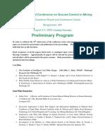 25th Preliminary Program