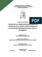 Análisis de Las Formas Discursivas Didáctico