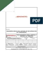 AJINOMOTO-Procedimiento de Limpieza y Pintado de Tubería