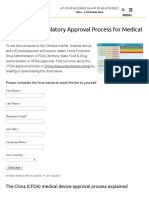 China CFDA Approval Process for Medical Devices