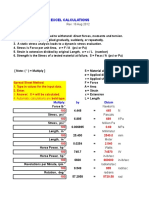 Metal Fatigue Spreadsheets