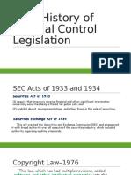 Brief History of Internal Control Legislation