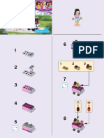 Lego Friends Cupcake Stall Instructions