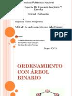 Metodo Ordenacion Arbol Binario