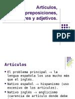 Articulos Preposiciones Pronombres Adverbios