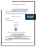 A Project Report on Study on Investor Behaviour Towards Stock Market (1)