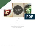 Bocaditos de Brócoli y Espinacas - Living Las Vegans