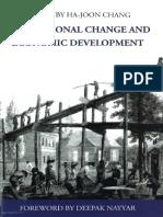 Instituational Change and Economic Development - Chang