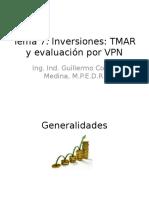 Tema 7 - Inversiones TMAR y Evaluación Por VPN