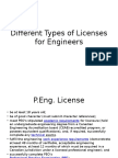 Engineering Licenses