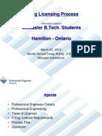 McMaster Hamilton March 23 2013 - P Eng Process
