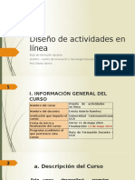 Diseño de Actividades en Línea