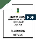 Cover Perancangan Strategik Badminton 2016