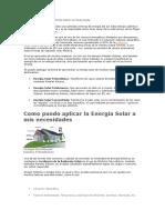 Aprovechando La Incidencia Solar en Venezuela