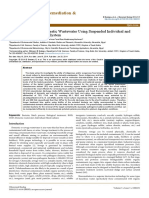 Decontamination Domestic Wastewater Using Suspended Individual Mixed Bacteria Batch System 2155 6199.1000231