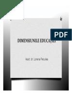 dimensiunile educatiei