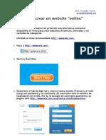 Como Crear Website Online