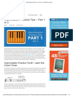 Improvisation Practice Tips - Part 1 of 2 - Cocktail Piano Lessons