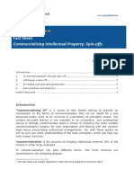 Fact Sheet Commercialising IP Spin Offs