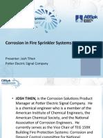 Corrosion in Fire Sprinkler Systems-JOSH TIHEN