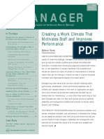 Creating a Work Climate That Motivates Staff and Improves Performance