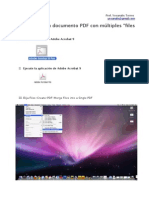 ¿Cómo crear un documento PDF con múltiples archivos?