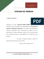 Certificado de Trabajo de Tademed Ultimo