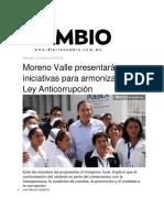 12.10.2016 Moreno Valle Presentará Iniciativas Para Armonizar La Ley Anticorrupción