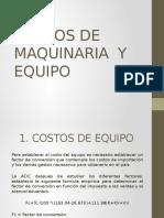 Costos de Maquinaria