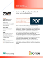 Project Leadership Completes Unifed Communications Solution Case Study for PSAV