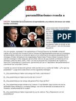 Semana - Fantasma Del Paramilitarismo Ronda a Álvaro Uribe