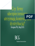 Boston Consulting Group presentation on insurance trends, Poland, 2015