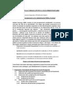 El Ciclo Del Presupuesto - Asegurado y Virgolini 2012