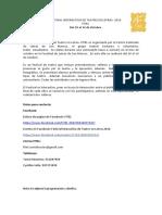 Nota y Programación. FITEL 2016. Letras UNMSM. Del 10 Al 14 de Octubre.