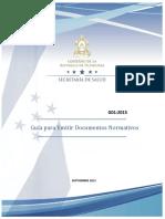 Guia Para Emitir Documentos Normativos g01 2015