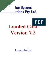 ELanded Cost Manual