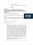 A Review on Investigation on the Influence Of