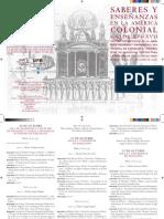 Saberes y Enseñanzas en La América Colonial