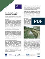 Kurunegala Summary Water Quality-final