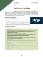 Good Practice Paper