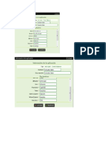 Captura Configuracion Base Datos Informix y Denwa