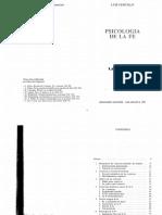 Cencillo Luis, Psicología de La Fe