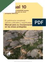 El Patrimonio Inmaterial Valores Culturales y Espirituales Manual Para Su Incorporación en Las Áreas Protegidas