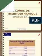 Cours de Thermodynamique Numero 1 Version Compatible 97-2003