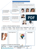 Appearance and Personality Activities